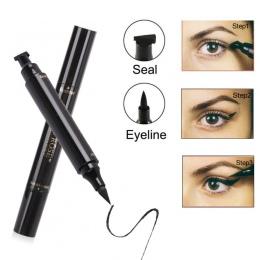 Panienko Wzrosła Znaczek Eyeliner Oczy Liniowej Cieczy Makijaż Ołówek Wodoodporny Czarny Podwójnie zakończony Makijaż Znaczki Ey