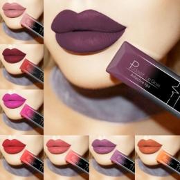 PUDAIER Wodoodporny Nude Matowy Aksamit Błyszczący Pomadka Błyszczyk Lip balsam Sexy Red Lip Tint 21 Kolory Kobiety Moda Makijaż