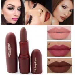 Hot Sexy Czerwone Usta Matte Velvet Pomadka Ołówek Kosmetyczne Długotrwałe Lip Tint Pigment Makijaż Nago Brązowy Lipstick Matte
