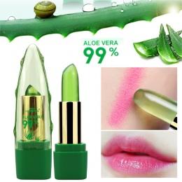 2018 Nowy Batom 99% ALOE VERA Naturalny Zmiana Temperatury Galaretki Kolor Szminki Długotrwałe Moistourizing Lip Makeup