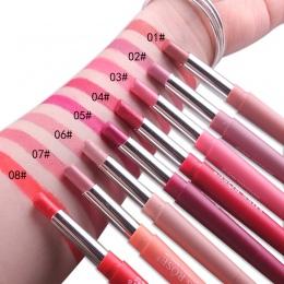 2 W 1 Usta Makijaż Matowy Szminka Zestaw Wodoodporna Sexy Kolory matowy Batom Retro Red Lips Lip Stick Liner Pencil Kosmetyki Co