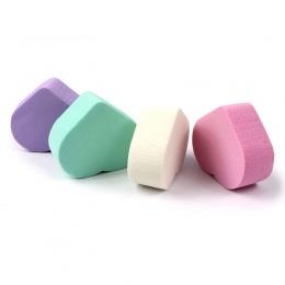 4 SZTUK W Kształcie Serca Suchej Mokrej Podwójnego Zastosowania Puff Kosmetycznych Makijaż BB Cream Foundation Sponge Puff Podkł