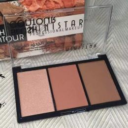 Popularny 3 Kolory Shimmer Ważne Blush Zawód Blush Bronzer Twarzy Contour Powder Blush Palette Wyróżnienia Make Up