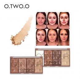 O. DWA. O 4 kolory Twarzy makijaż Wodoodporny Uwodzenie Proszku z Puder Contour Bronzer Blush Róż Do Policzków Wyróżnienia Cieni