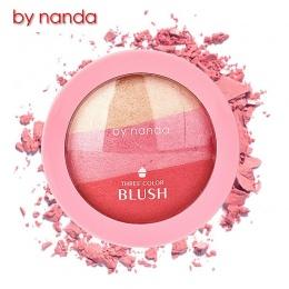 3 Kolory PRZEZ NANDA Pieczone Blush Makijaż Kosmetyki Naturalne Pieczone Blush Róż Do Policzków Powder Palette Uroczy Kolor Poli
