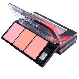 3 kolory Naturalne długotrwałe Róż Do Policzków Powder Palette Shimmer Wyróżnienia Blush Policzków Makijaż Narzędzie WH998