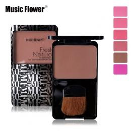 Muzyka Kwiat Twarzy Makijaż Policzków Powder Blush Paleta Sleek Bronzer Matowy Makijaż Twarzy Różu Z Pędzla Mineralizuje Kosmety