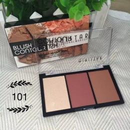 Uroda Makijaż Shimmer Materii Zakreślacz Bronzer Face Powder Blush Contour Palette Rumieniec Makijaż Blush