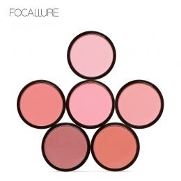 FOCALLURE 6 Kolory Rumieniec Makijaż Kosmetyki Naturalne Wciśnięty Róż Do Policzków Powder Palette Urocze Policzków Kolor Makija