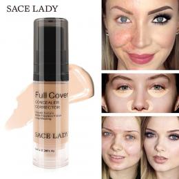 SACE LADY Pełna Pokrywa 5 Kolory Cieczy Korektor Makijaż 6 ml Oczu Cienie Krem Do Twarzy Korektor Wodoodporny Make Up baza Kosme