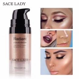 SACE PANI Oświetlacz Makijaż Zakreślacz Krem Do Twarzy Rozjaśnić Profesjonalne Shimmer Make Up Cieczy Glow Zestaw Kosmetyczny Ko
