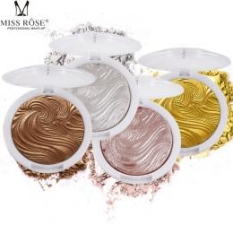 PANIENKO WZROSŁA Złoty Highlighter Powder Palette Shimmer Makijaż Twarzy Baza Oświetlacz Bronzers Kulminacyjnym Pieczenia Puder