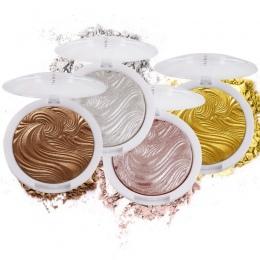 Kobiety Twarzy Beauty Makeup Palette Shimmer Złoty Proszek Wyróżnienia Twarzy Baza Oświetlacz Bronzers Kulminacyjnym Contour Sre
