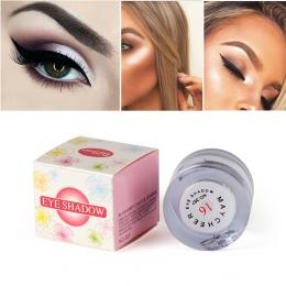 Marka 2 w 1 Eye Make Up Twarzy Rozjaśnić Wyróżnienia Shining Shimmer Powder Pigment Biały Kolor Pojedyncze Eyeshadow Paleta