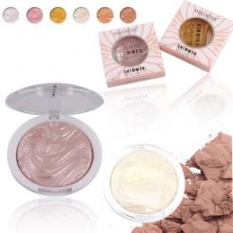 Glow Zestaw Wyróżnienia Makijaż Shimmer Powder Wyróżnienia Palette Podstawy Oświetlacz Kulminacyjnym Twarzy Contour Złoty Bronze