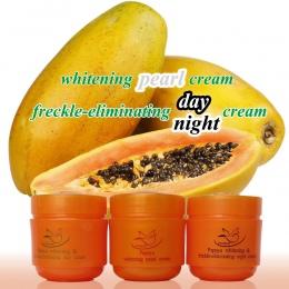 Papaya krem do wybielania twarzy anty plamka krem na dzień + krem na noc + perła krem