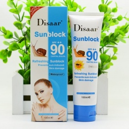 Ślimak krem do opalania 100 ml, Ochrona Krem Do Twarzy Disaar Sunblock 90 + + Ochronna Krem Pigmentacji SPF
