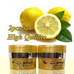 Lemon skóry krem rozjaśniający krem na dzień + night krem wybielający krem do twarzy