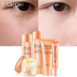 Ślimak Naprawy Skin Care Set Paczka 5 Pianki Mycia Krem Nawilżający Demakijażu + Toner + Balsam + Eye krem Anti Aging Wybielanie
