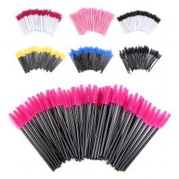 50 sztuk Rzęs szczotki pędzle Do Makijażu Jednorazowe Mascara Różdżki Aplikator Buforów Oko Rzęsy Kosmetyczne Brush Makeup Tools