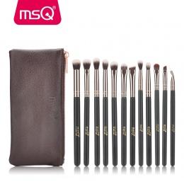 MSQ 12 sztuk Eyeshadow Makijażu Pędzle Zestaw pincel maquiagem Pro Rose Złoty Cień Do Oczu Mieszania Make Up Szczotki Miękki Syn