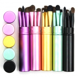 BBL 5 sztuk Travel Przenośny Mini Oczu Pędzle Do Makijażu Zestaw Reals Eyeliner Eyeshadow Szczotki Brwi Lip Make Up Szczotki zes