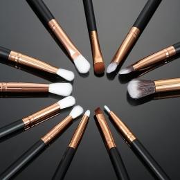 12 sztuk Pro Pędzle Do Makijażu Zestaw Fundacja Powder Eyeshadow Eyeliner Lip Brush Narzędzia Makijaż Szczotki Pincel Maquiagem