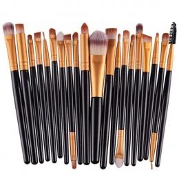 Profesjonalne 20 sztuk/zestaw Kozy Makeup Muśnięcie ustawia Narzędzia Make-up Toaletowe Zestaw Wełna Make Up Szczotki Miękki Syn