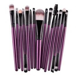 15 sztuk/zestawów Zestaw Do Makijażu Pędzle Eye Shadow Fundacja Pro Brwi Lip Brush Pro Pędzle Do Makijażu Dla Kobiet Lady Fiolet
