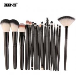 MAANGE 18 sztuk Zestaw Do Makijażu Pędzle Powder Blush Fundacja 10 sztuk Eyeliner Eyeshadow Lip Kosmetyczne Uroda makijaż Szczot