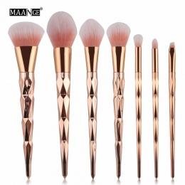 MAANGE 7/10 Sztuk Diament Zestaw Do Makijażu Pędzle Cień Do Oczu Blending Blush Powder Foundation Kosmetyki Beauty Make Up Brush