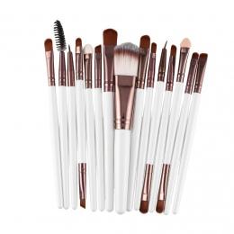 15 sztuk/zestaw Makijaż Szczotki Zestawy Zestaw Rzęs Brow Eyeliner Lip Fundacja Powder Eye Shadow Kosmetyki Make Up Brush Uroda