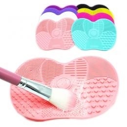 Silikon Szczotka Do Czyszczenia Mat Narzędzia dla Kosmetyczne makijaż Brwi Szczotki Do Czyszczenia Mycia Pad Płyty Makijaż Clean