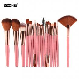 MAANGE 6-18 sztuk/zestaw Pro Powder Makeup Szczotki Cień Do Oczu Piękno Brwi Różu Fundacja Wentylator Policzków Kosmetyczne Make