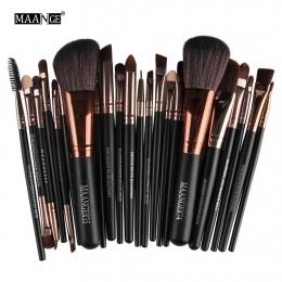 Nowy Pro 22 sztuk Pędzle Do Makijażu Kosmetyki Zestaw Blush Powder Foundation Eyeshadow Eyeliner Lip Make up Brush Uroda Narzędz