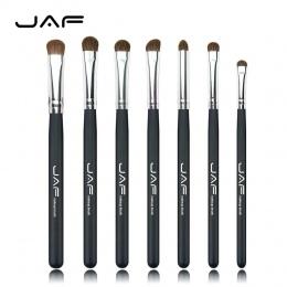 JAF Marka 7 sztuk Eyeshadow Pędzle do Makijażu Klasyczne 100% Naturalne Zwierząt Włosów Cień Do Oczu Mieszania Make Up Brush Set