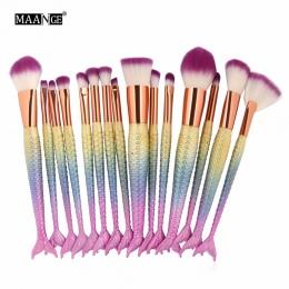 1-16 sztuk Big Syrenka Zestaw Do Makijażu Pędzle Fundacja Mieszania Proszku Eyeshadow Contour Concealer Blush Kosmetyczne Uroda