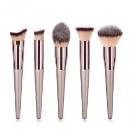 1 PC Duża Fundacja Pędzle Do Makijażu Kawy Uchwyt Bardzo Miękkie Włosy Blush Powder Make Up Szczotki Twarz Uroda Narzędzia Kosme