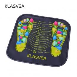 KLASVSA Refleksologia Spacer Kamień Stóp Noga Ból Łagodzi Ulga Spacer Masażu Mata Opieki zdrowotnej Akupresury Mat Pad massagead
