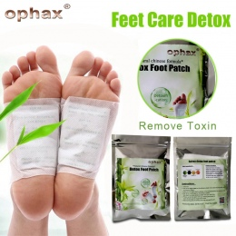 OPHAX Ciała Toksyn Stóp Odchudzanie Poprawki Chiński Lek Poprawia Sen Detox Foot Patch (5 Pairs Łaty + 10 sztuk klejów)