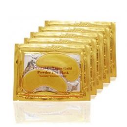 20 sztuk = 10 paczek Złota Maski Kryształ Collagen Eye Mask Hotsale Obturatory Dla Oczu Przeciwzmarszczkowy maska Usuń Czarny Pi
