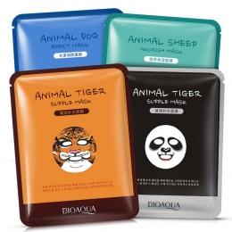 BIOAQUA 1 sztuk Do Pielęgnacji Skóry Owiec/Panda/Pies/Tygrys Twarzy Maskę Nawilżającą Cute Animal Twarzy Maski