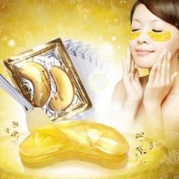10 sztuk = 5 paczek Złoty Kryształ Collagen Eye Mask Eye Łatki Oczu Maska Do Pielęgnacji Twarzy Cienie Usunąć żel Maska dla Oczu
