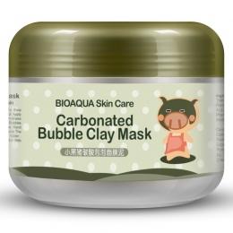 BIOAQUA Kawaii Czarna Świnia Gazowany Bubble Gliny Maski Winter Głębokie Czyszczenie Nawilżający Do Pielęgnacji Skóry