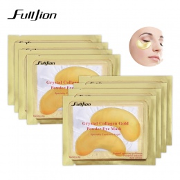 Fulljion Naturalny Kryształ Kolagen Golden Eye Mask Anti-Aging Pielęgnacja Twarzy Śpiąca Eye Patches Eliminuje Cienie Zmarszczki