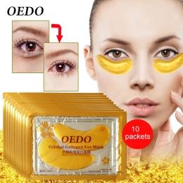 20 sztuk = 10 pack Pielęgnacja Oczu i Leczenia Maska Złoty Kryształ Kolagen Wybielanie Pielęgnacji Skóry Ciemne Koła Obturatory