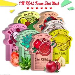 Jestem PRAWDZIWE Pielęgnacji Skóry Żywności Twarzy Arkusz Maska Nawilżająca Kontrola Oleju Wybielanie Zmniejszyć Pory Koreański