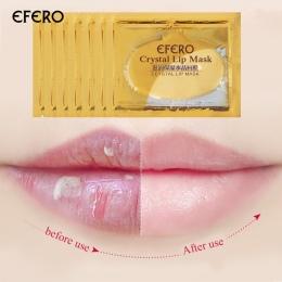 5 sztuk Kolagen Kryształ Złoty Żel Lip Mask Anti-Aging przeciwzmarszczkowy Patch Balsam Wargi Plumper Kolagen Odżywiają usta Opi