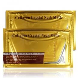 5 sztuk/partia Pro Złoty Kolagen Kryształ Neck Mask Kolagen Neck Podnoszenia Maski Złoto Kryształ Neck Mask