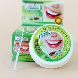 Tajlandia oryginalny ziołowy ząbek pasta do zębów antybakteryjna, wybielanie usuwania dymu herbata żółty plamy płytki nazębnej d